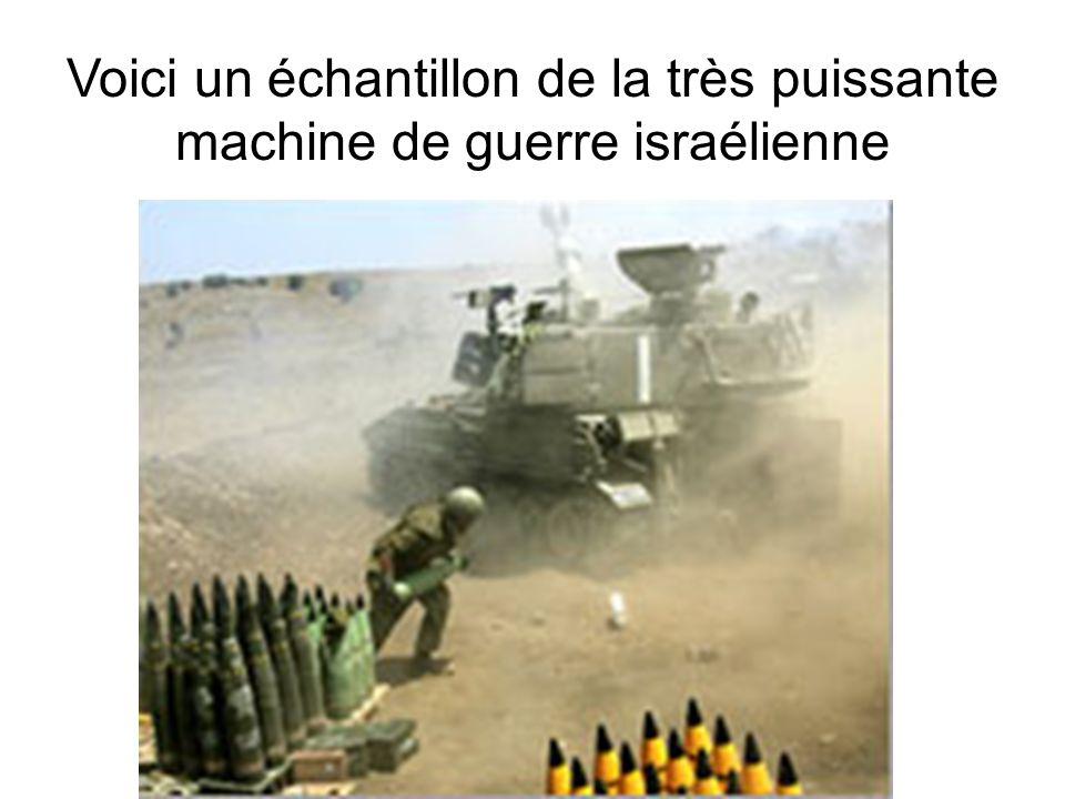 Voici un échantillon de la très puissante machine de guerre israélienne
