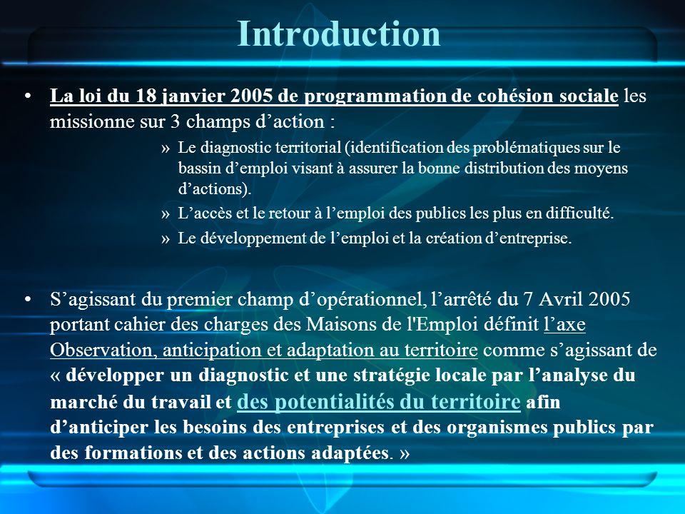 Introduction La loi du 18 janvier 2005 de programmation de cohésion sociale les missionne sur 3 champs d'action :
