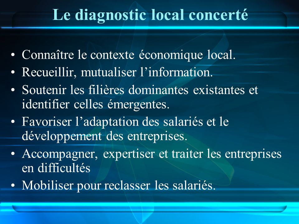 Le diagnostic local concerté