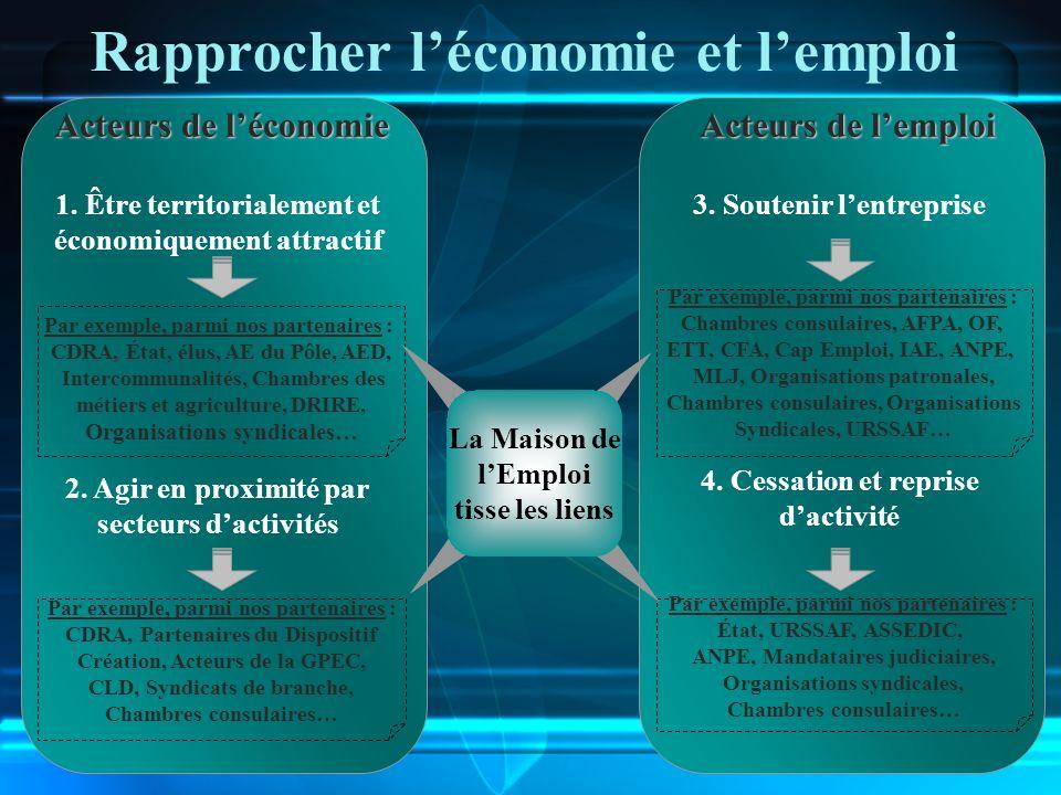 Rapprocher l'économie et l'emploi