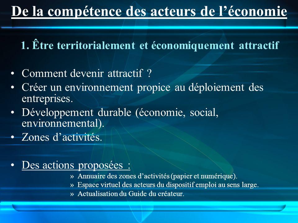 1. Être territorialement et économiquement attractif