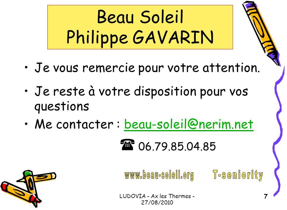 Beau Soleil Philippe GAVARIN