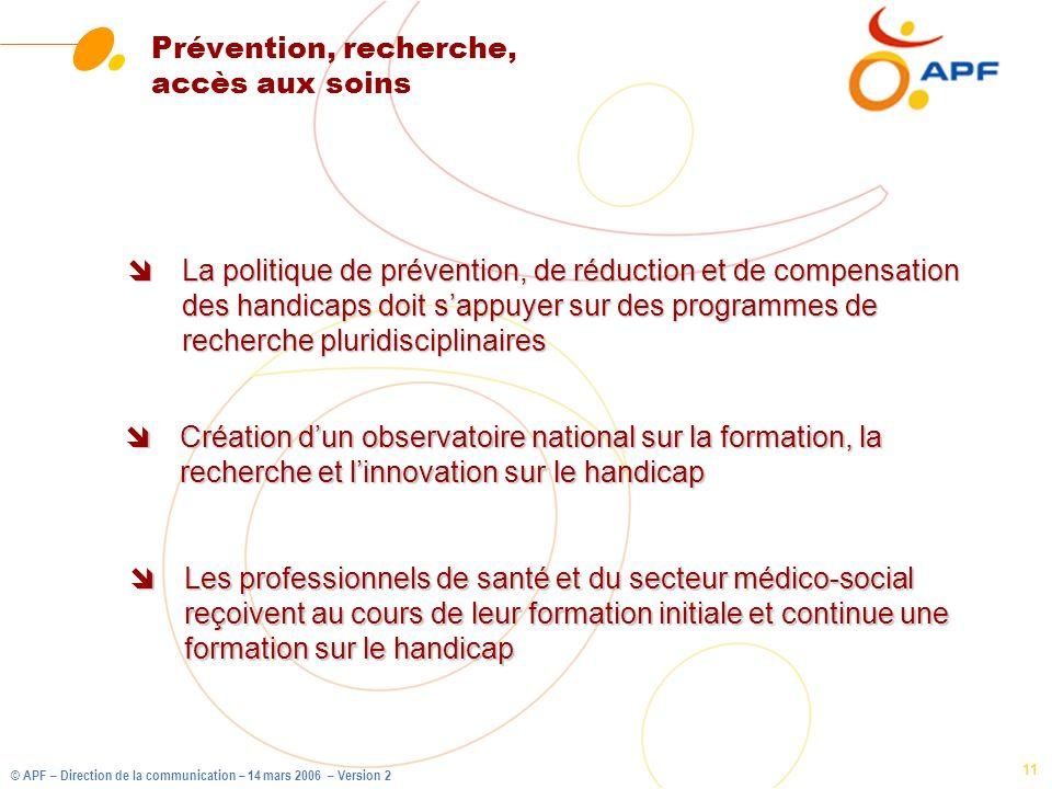 Prévention, recherche, accès aux soins