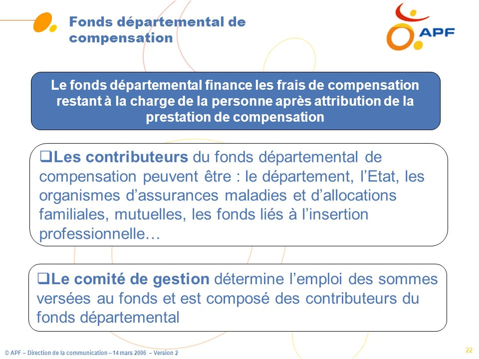 Fonds départemental de compensation