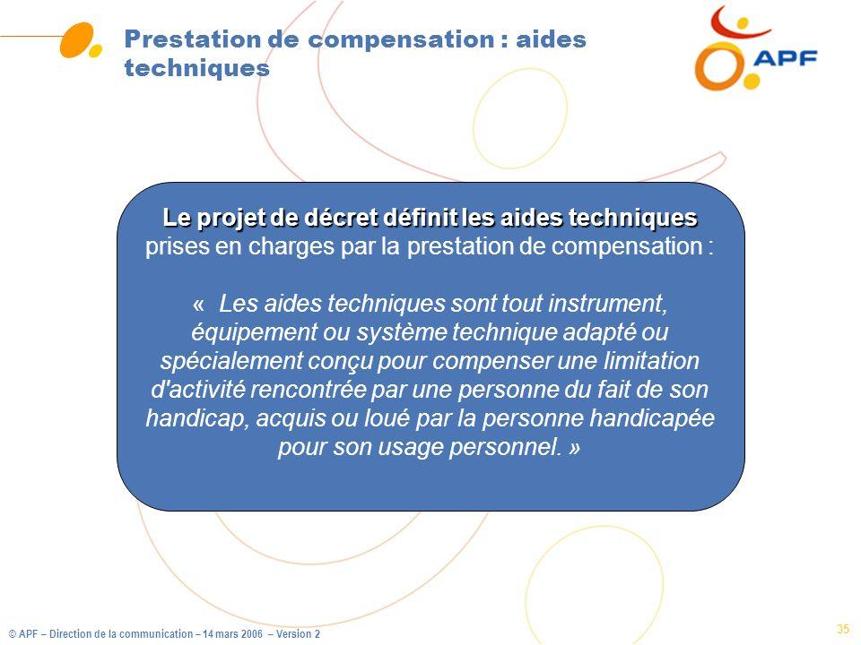 Prestation de compensation : aides techniques