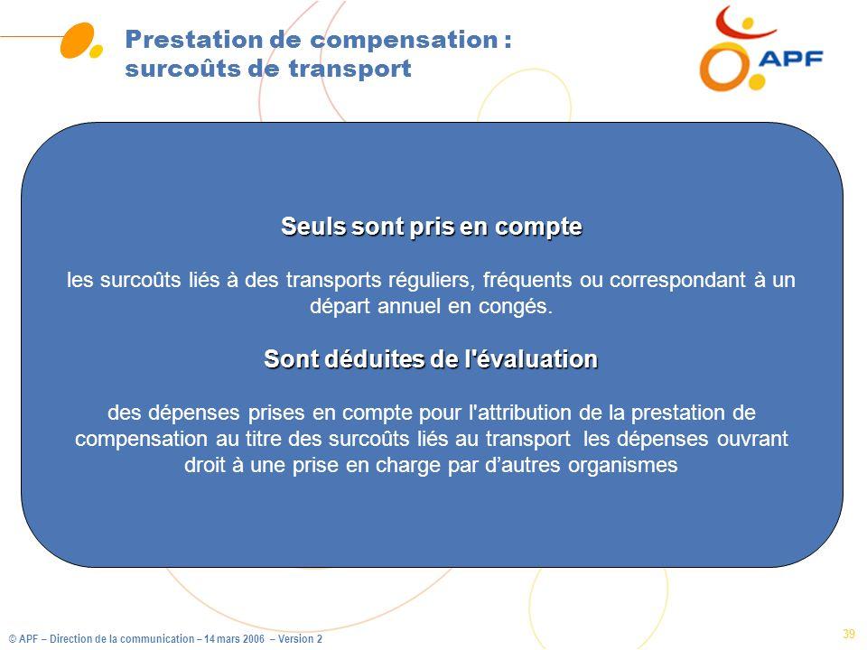 Prestation de compensation : surcoûts de transport