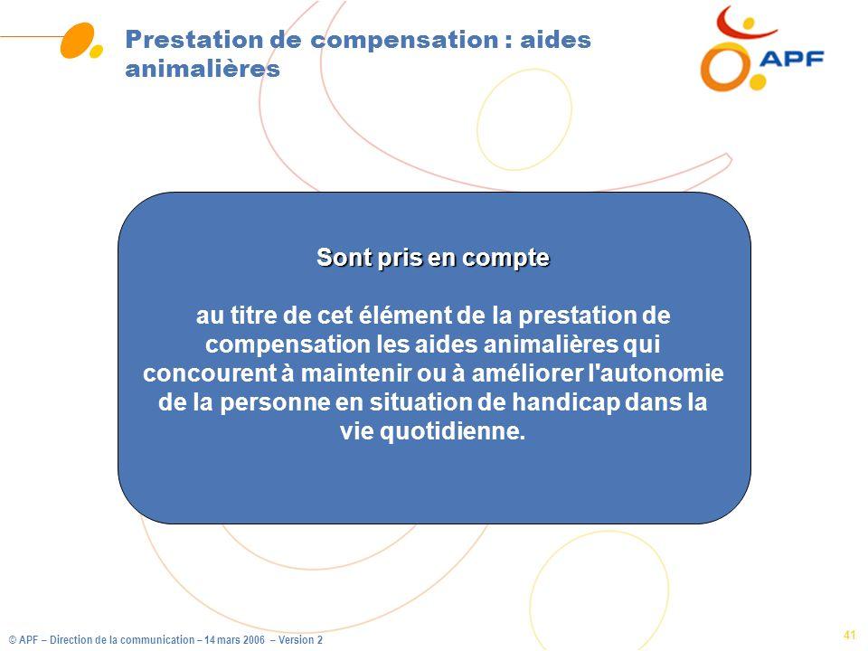 Prestation de compensation : aides animalières