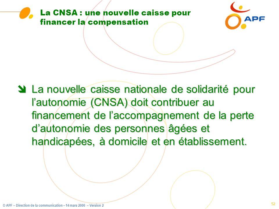 La CNSA : une nouvelle caisse pour financer la compensation