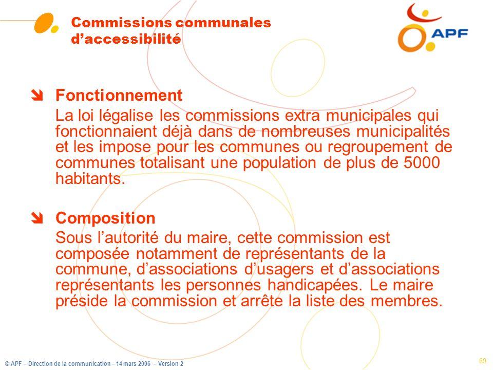 Commissions communales d'accessibilité