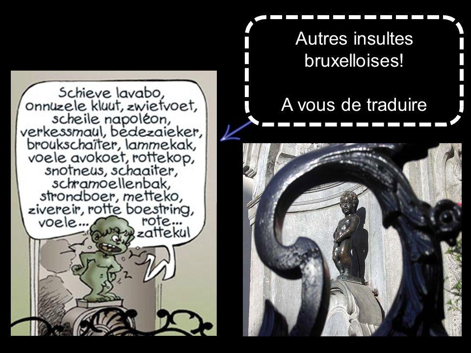 Autres insultes bruxelloises! A vous de traduire