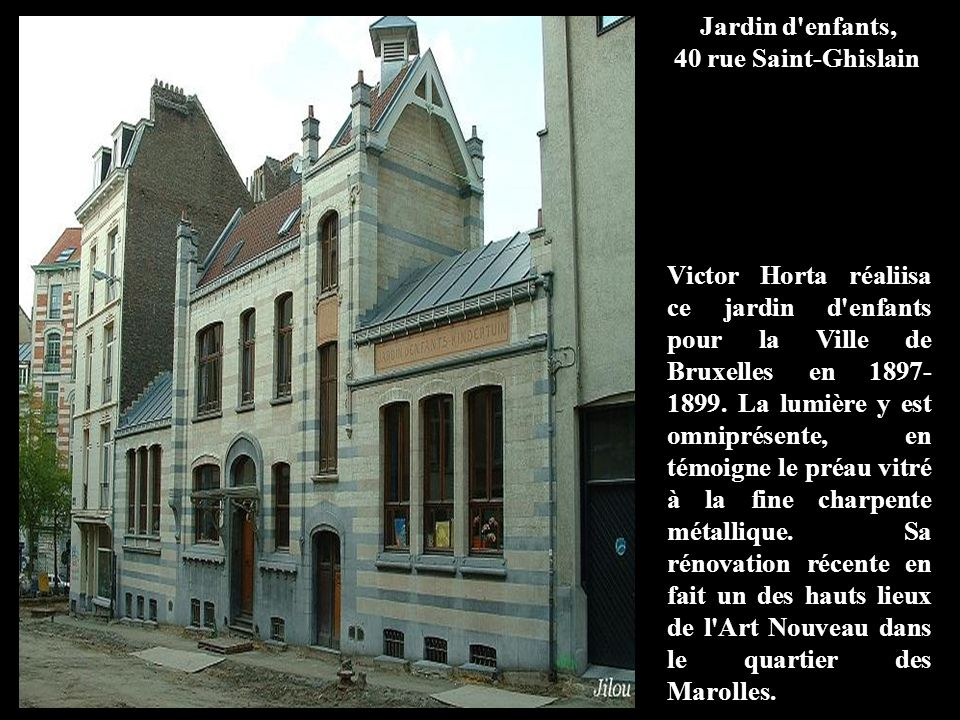Jardin d enfants, 40 rue Saint-Ghislain