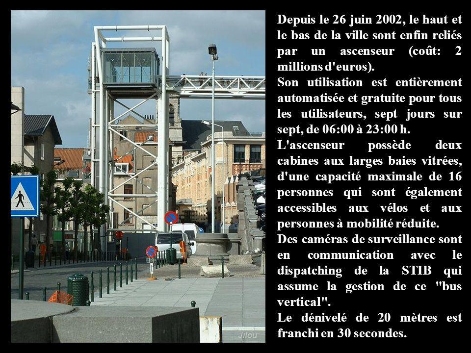 Depuis le 26 juin 2002, le haut et le bas de la ville sont enfin reliés par un ascenseur (coût: 2 millions d euros).