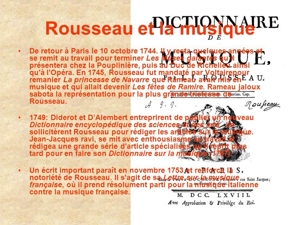 Rousseau et la musique