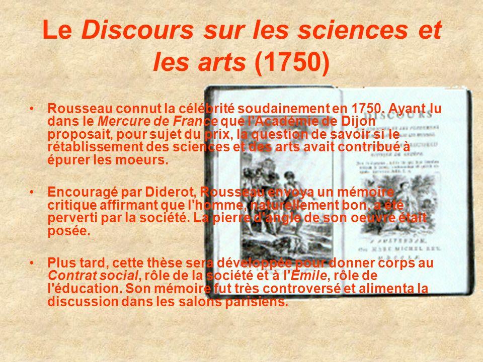 Le Discours sur les sciences et les arts (1750)