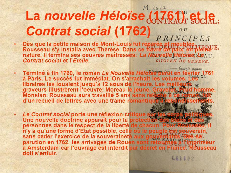 La nouvelle Héloïse (1761) et le Contrat social (1762)