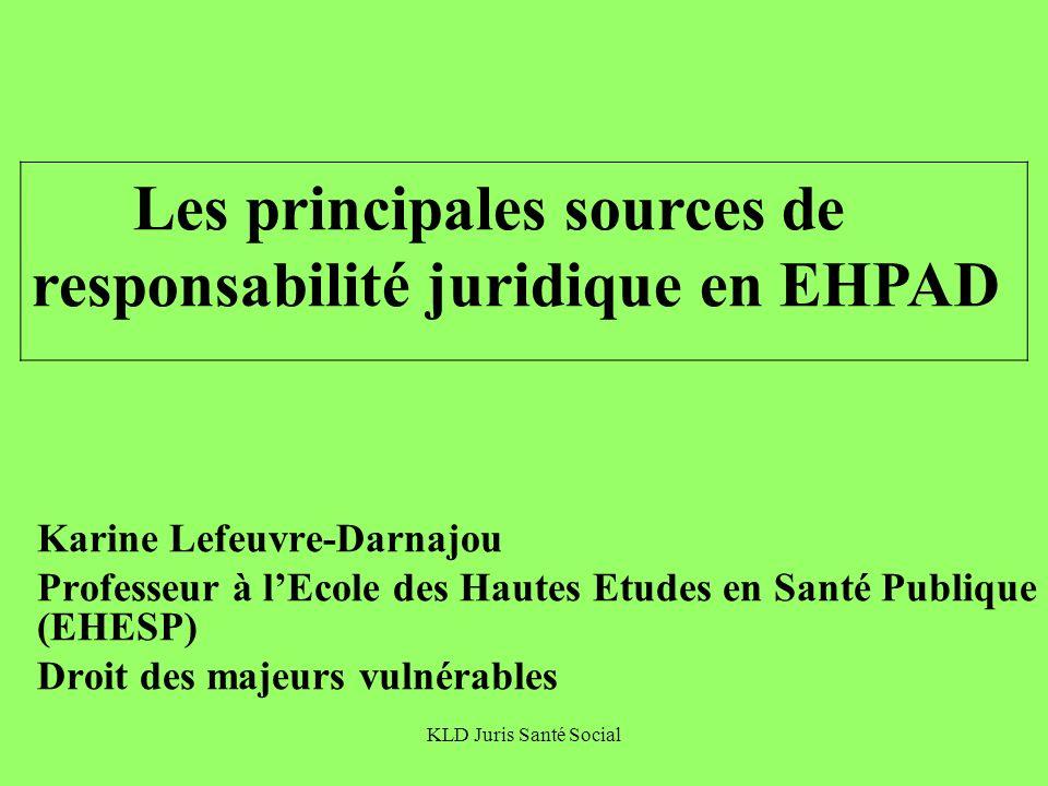 Les principales sources de responsabilité juridique en EHPAD
