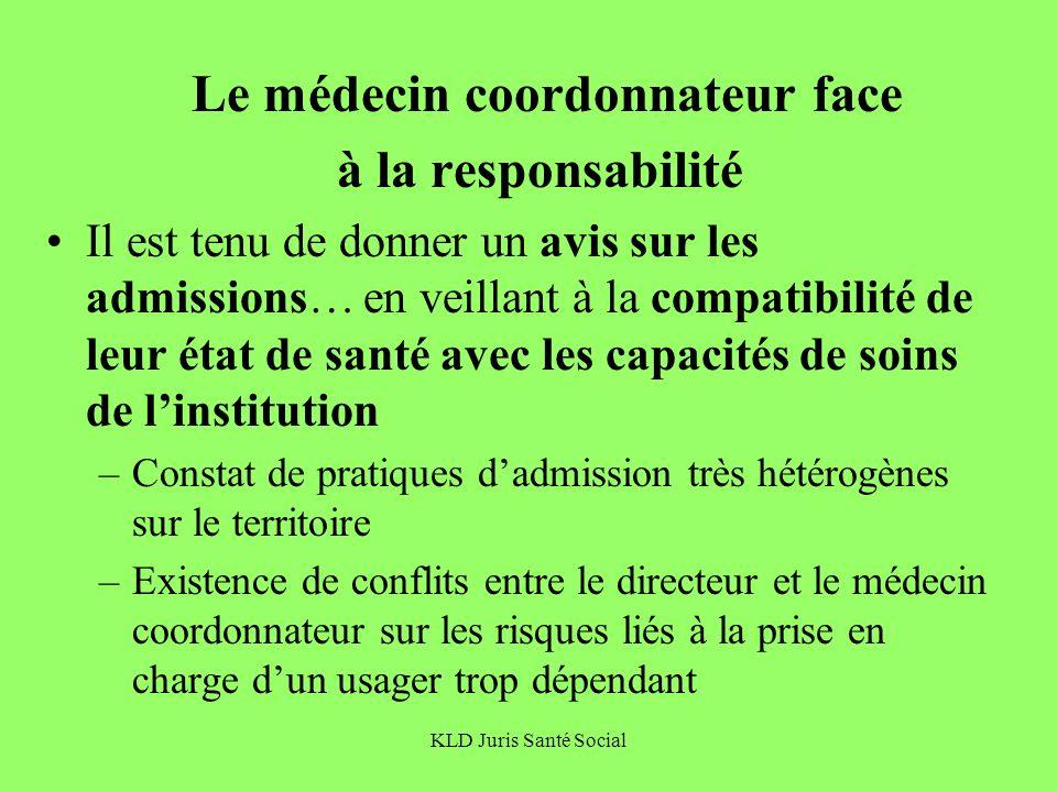 Le médecin coordonnateur face à la responsabilité