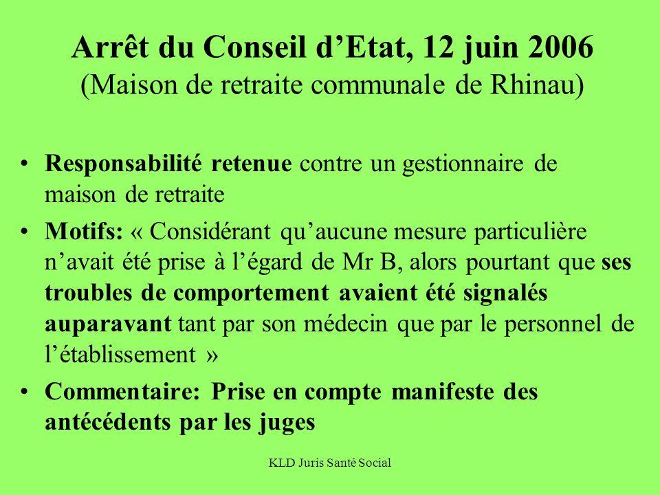 Arrêt du Conseil d'Etat, 12 juin 2006 (Maison de retraite communale de Rhinau)
