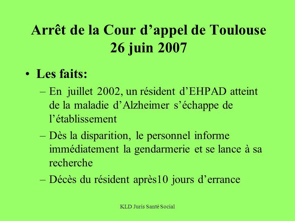 Arrêt de la Cour d'appel de Toulouse 26 juin 2007