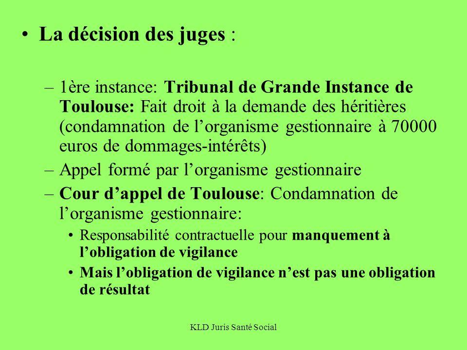 La décision des juges :