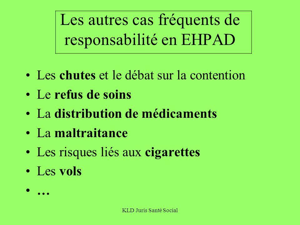 Les autres cas fréquents de responsabilité en EHPAD
