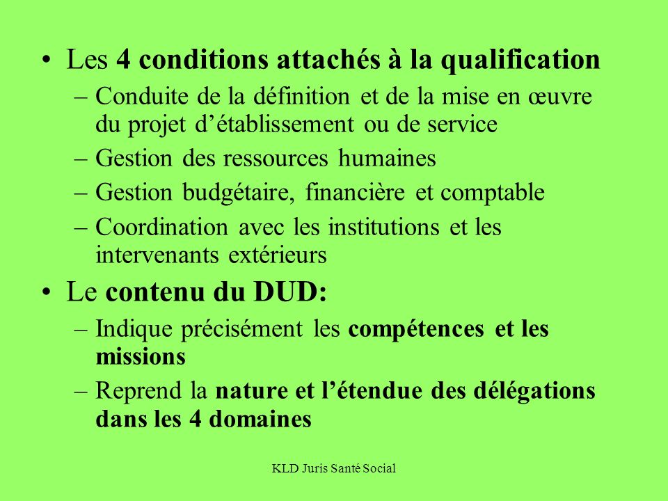 Les 4 conditions attachés à la qualification