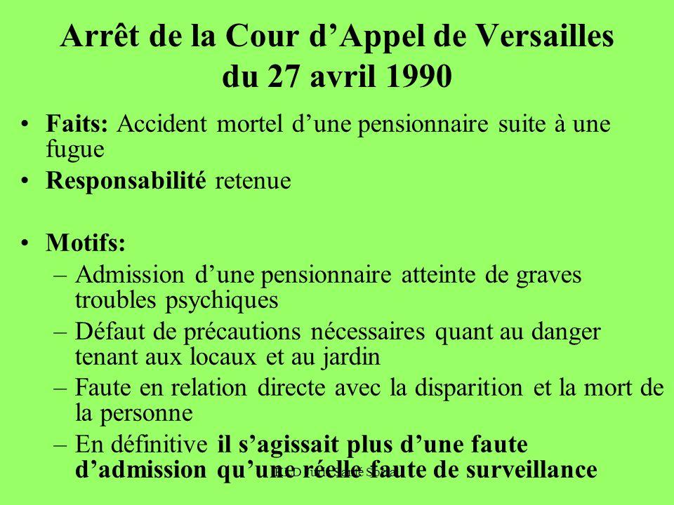Arrêt de la Cour d'Appel de Versailles du 27 avril 1990