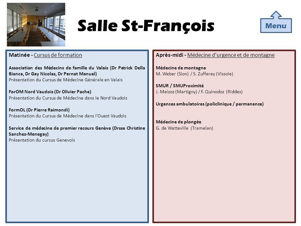 Salle St-François Menu Matinée - Cursus de formation
