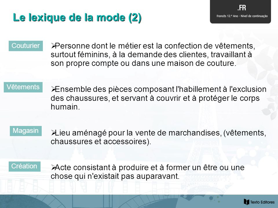 Le lexique de la mode (2) Couturier.