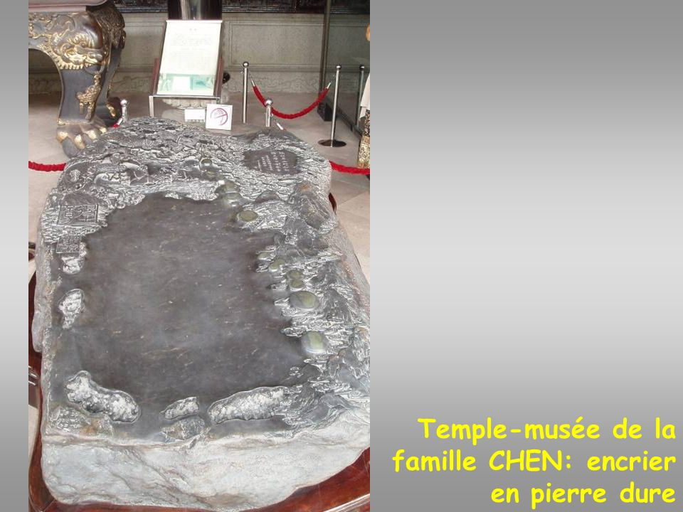 Temple-musée de la famille CHEN: encrier en pierre dure