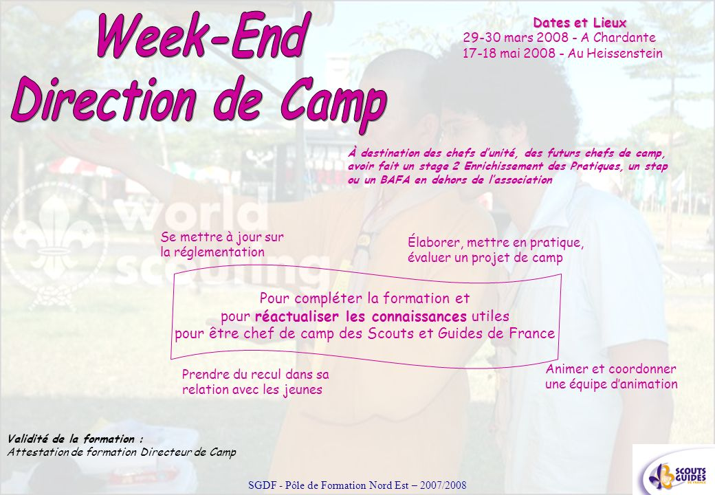 Week-End Direction de Camp