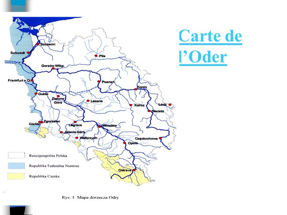 Carte de l'Oder