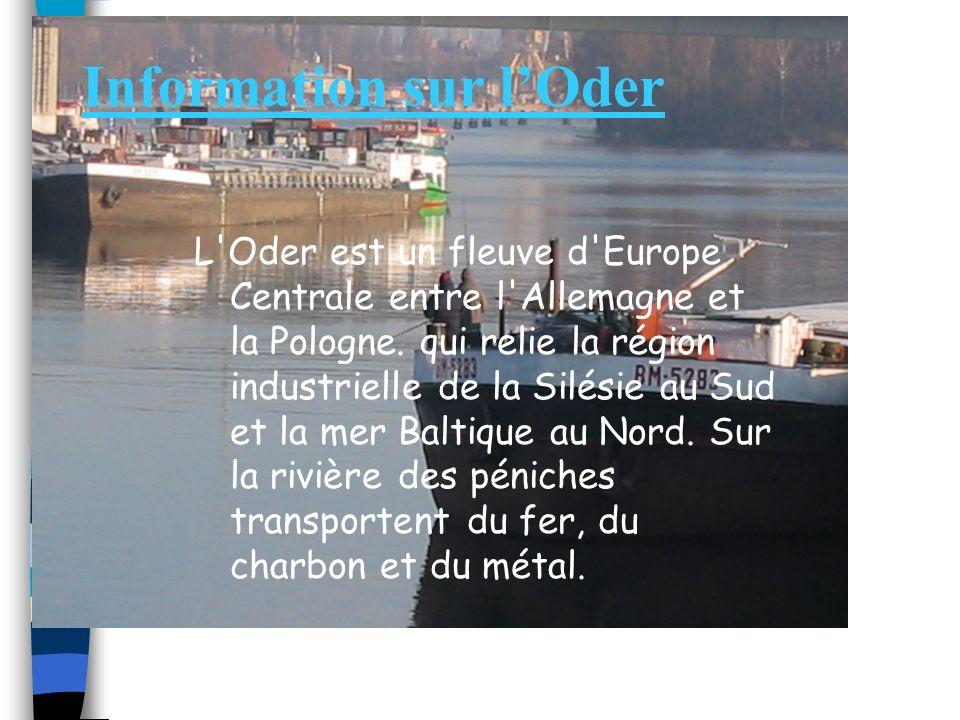 Information sur l'Oder