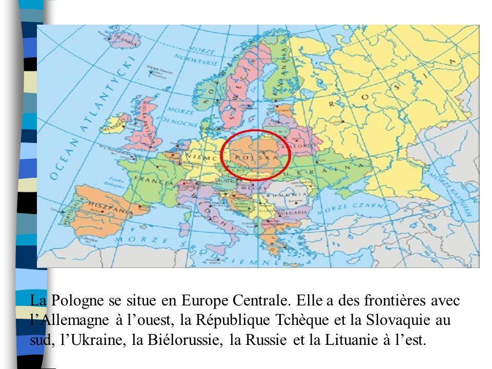 La Pologne se situe en Europe Centrale