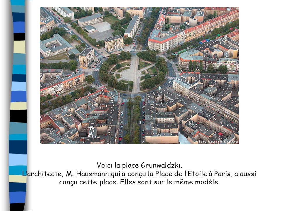 Voici la place Grunwaldzki.