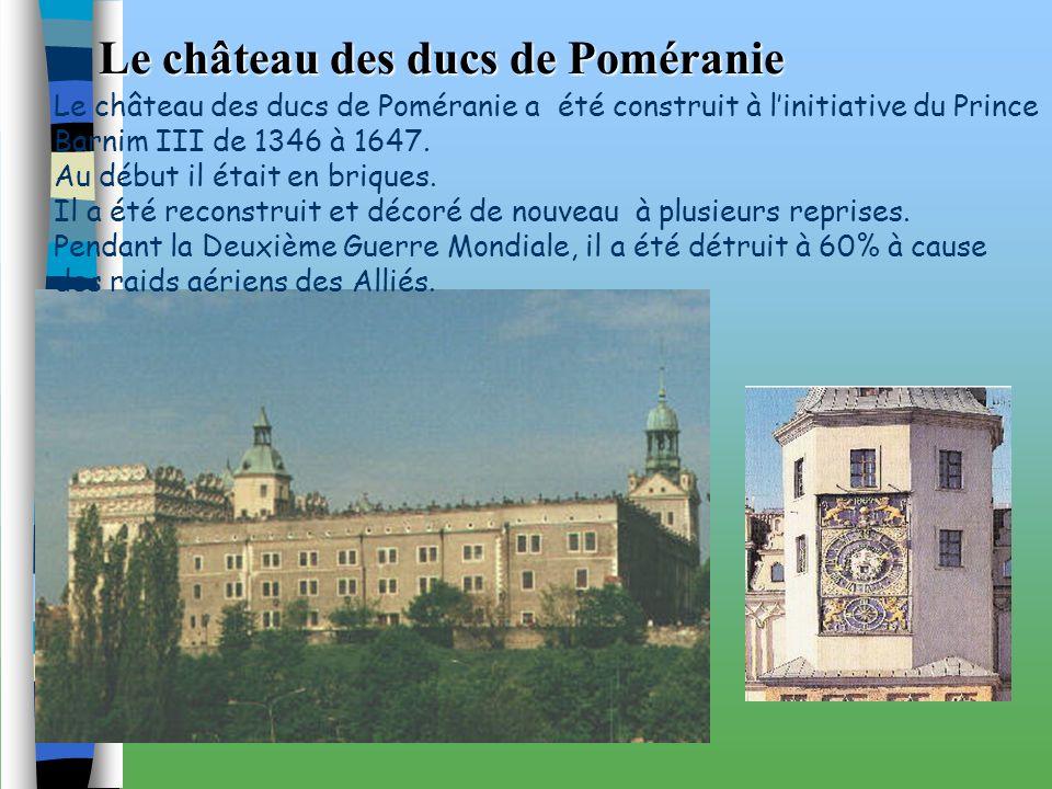 Le château des ducs de Poméranie