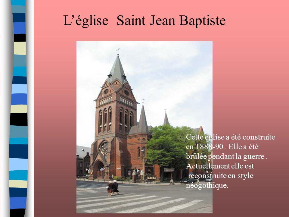 L'église Saint Jean Baptiste