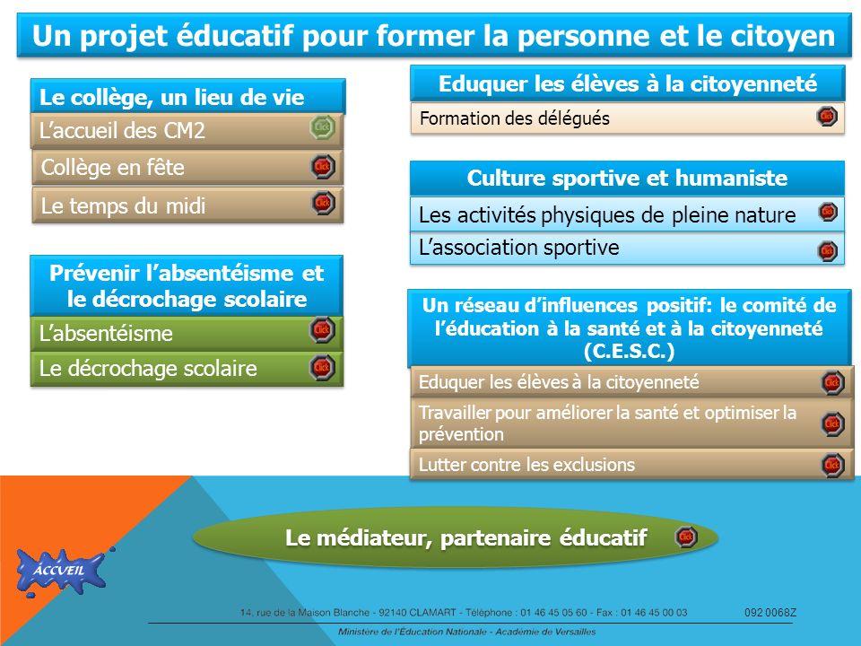 Un projet éducatif pour former la personne et le citoyen