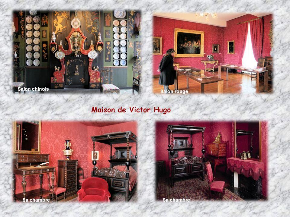 Salon chinois Salon rouge Maison de Victor Hugo Sa chambre Sa chambre