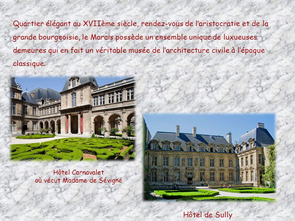 où vécut Madame de Sévigné