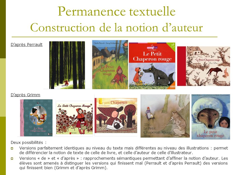 Permanence textuelle Construction de la notion d'auteur