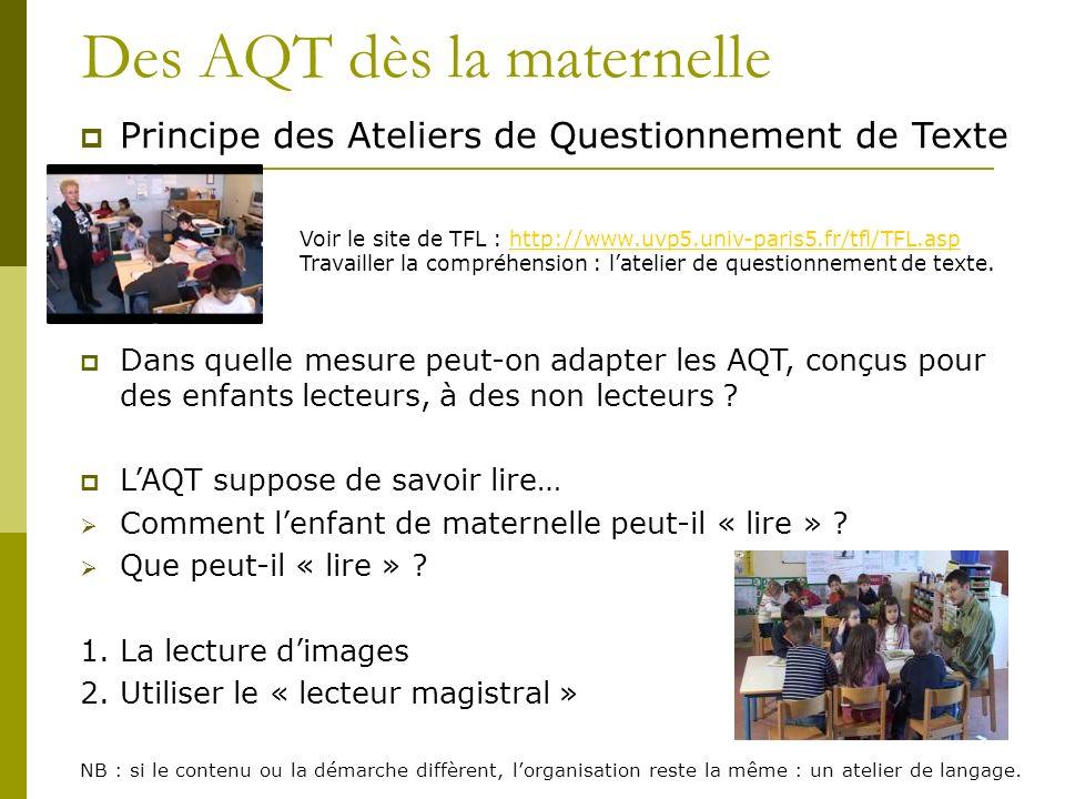 Des AQT dès la maternelle