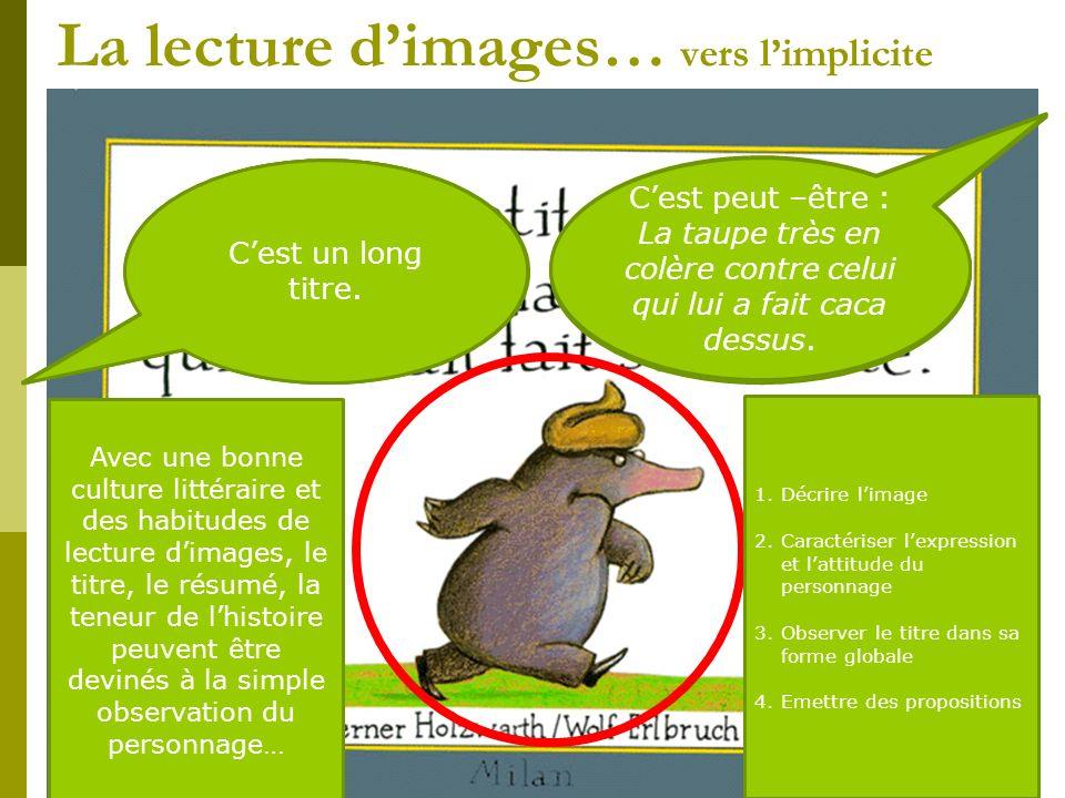 La lecture d'images… vers l'implicite
