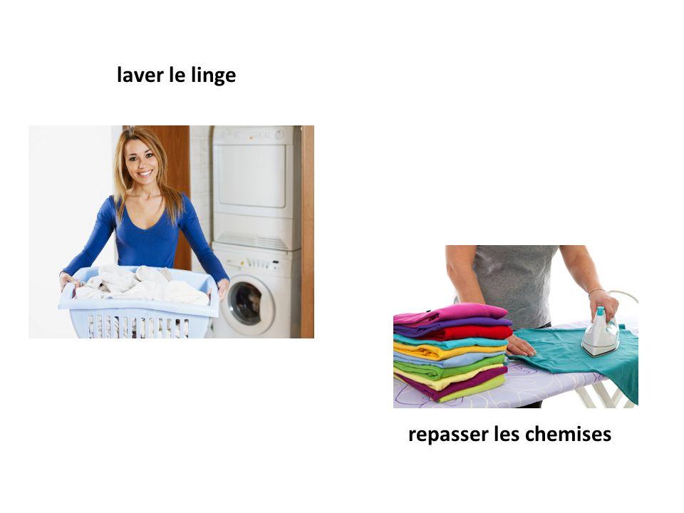 laver le linge repasser les chemises
