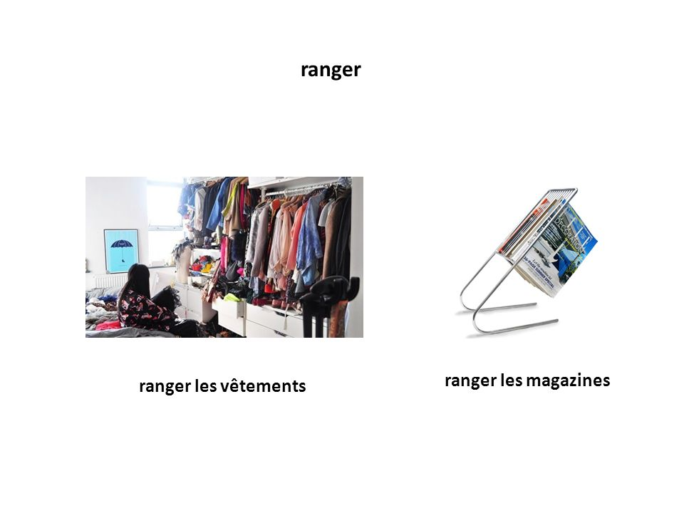 ranger ranger les magazines ranger les vêtements