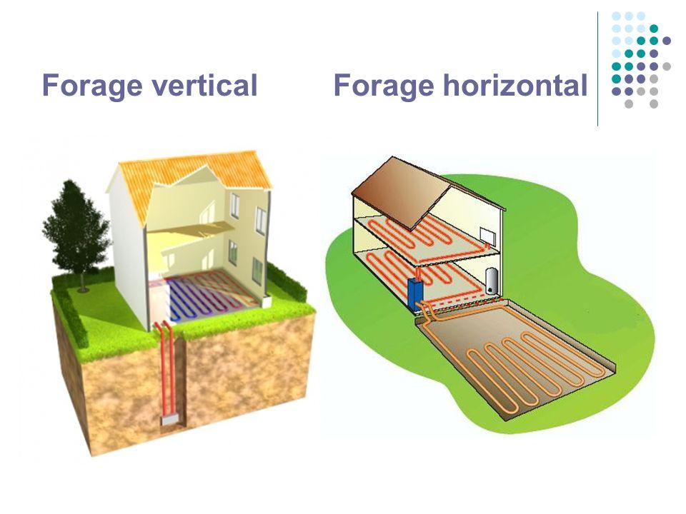 Forage vertical Forage horizontal
