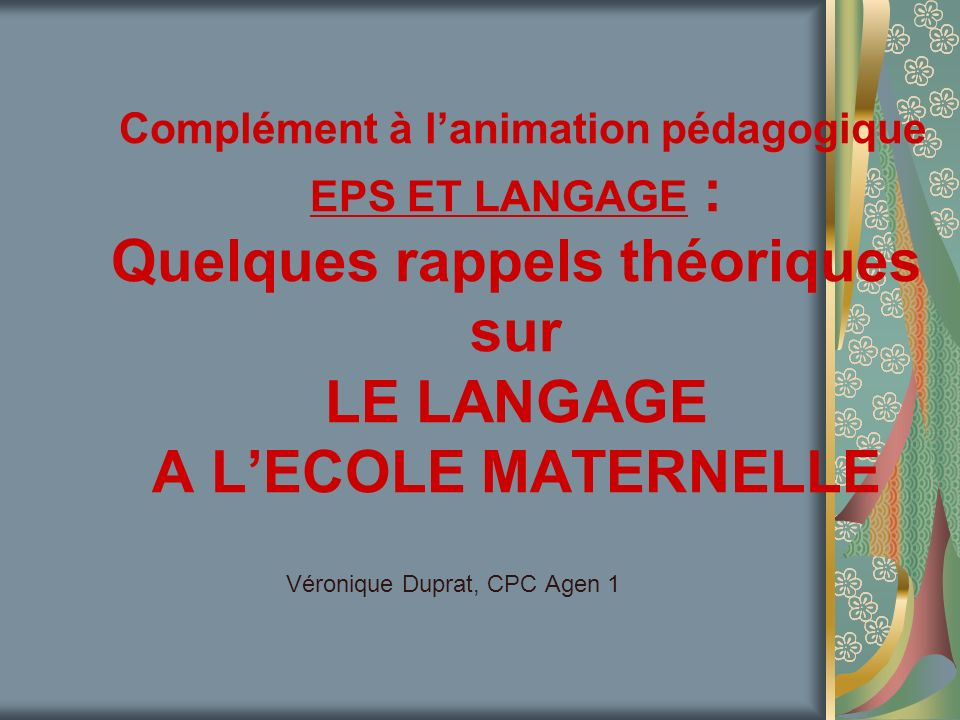 Véronique Duprat, CPC Agen 1