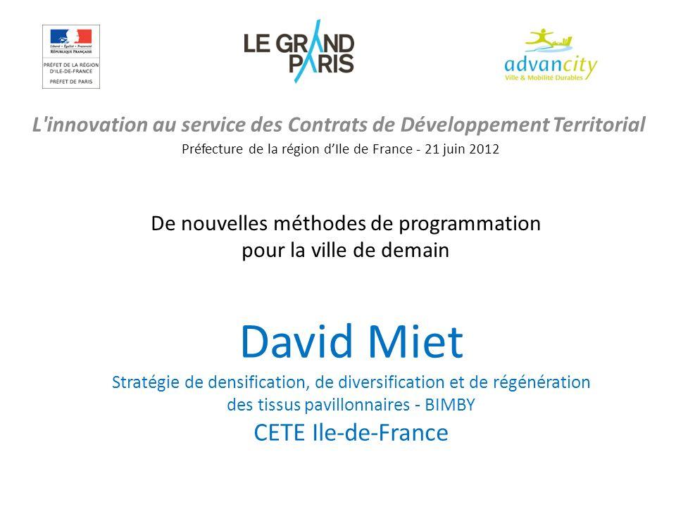 L innovation au service des Contrats de Développement Territorial