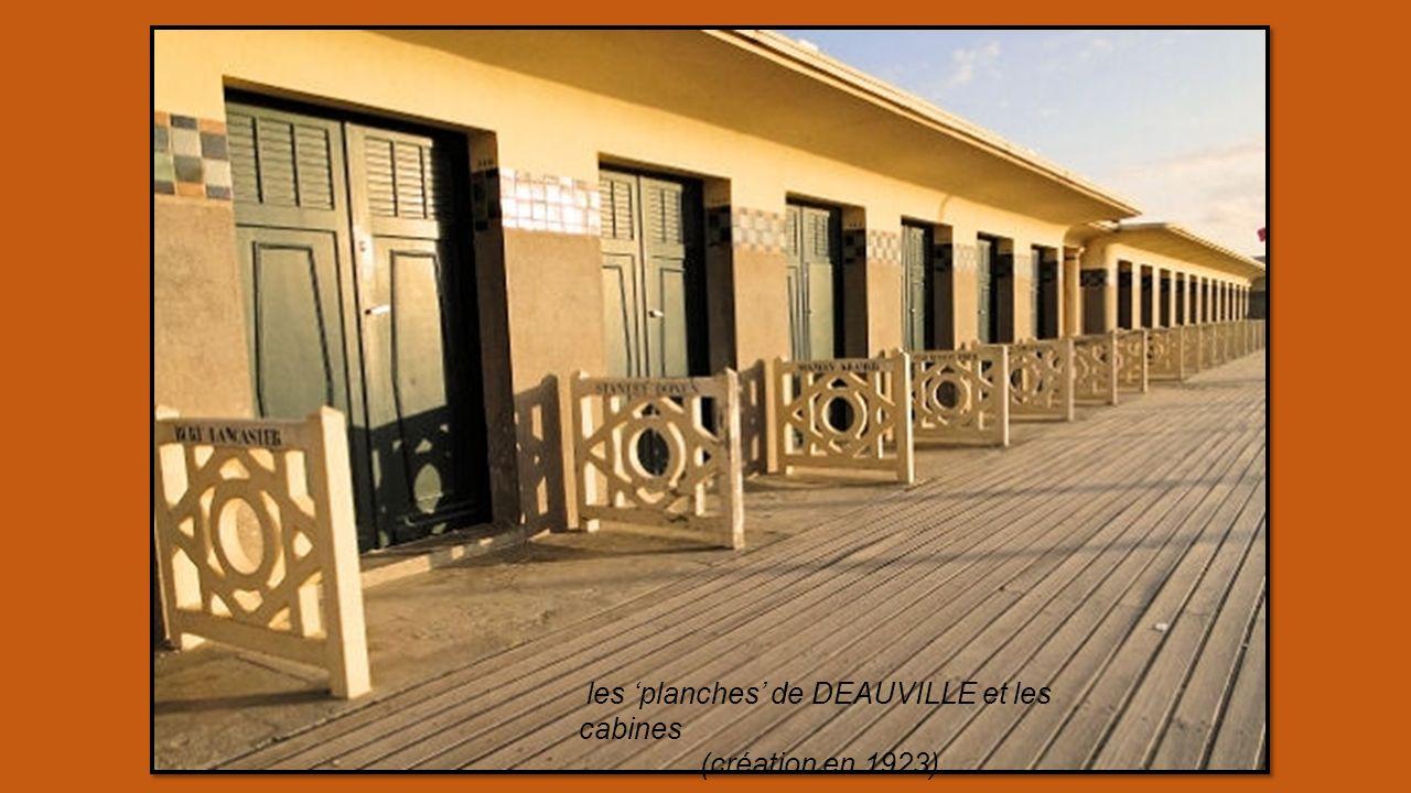 les 'planches' de DEAUVILLE et les cabines