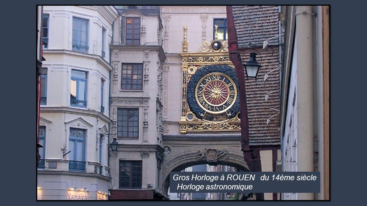 Gros Horloge à ROUEN du 14éme siècle